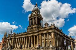 Blue sky Town Hall, Leeds