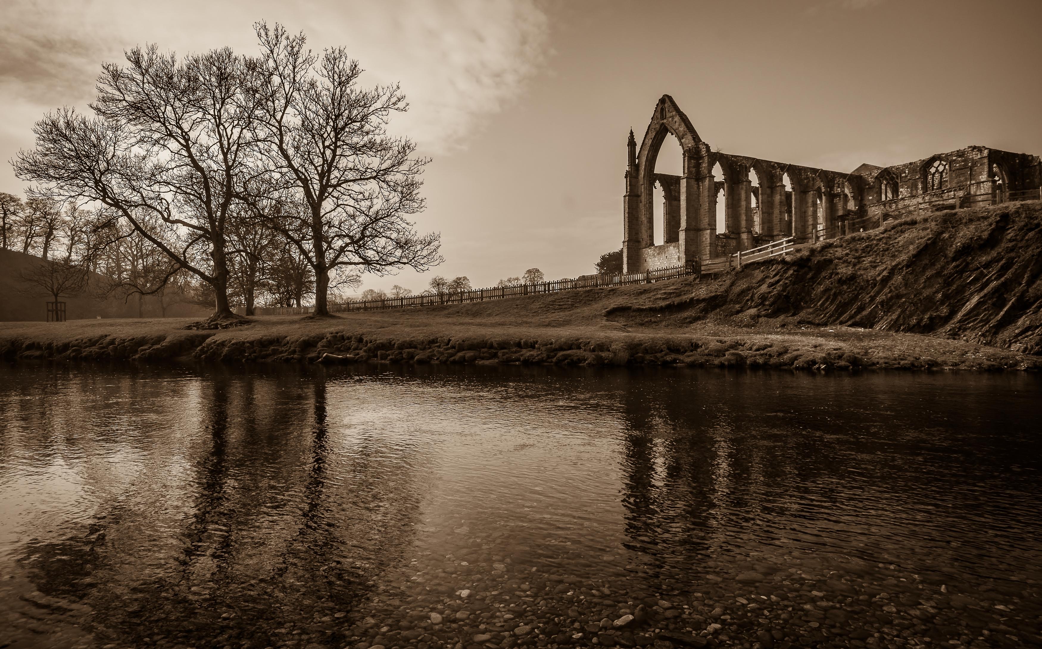 Bolton Abbey in Sepia
