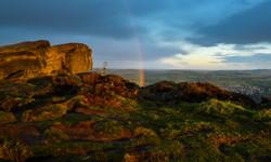 Rainbow over the Cow & Calf