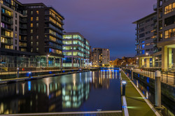 Clarence Dock Jetty by Night