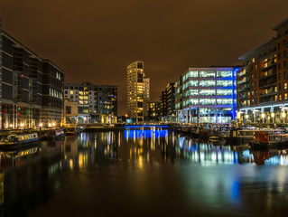 Clarence Dock by Night