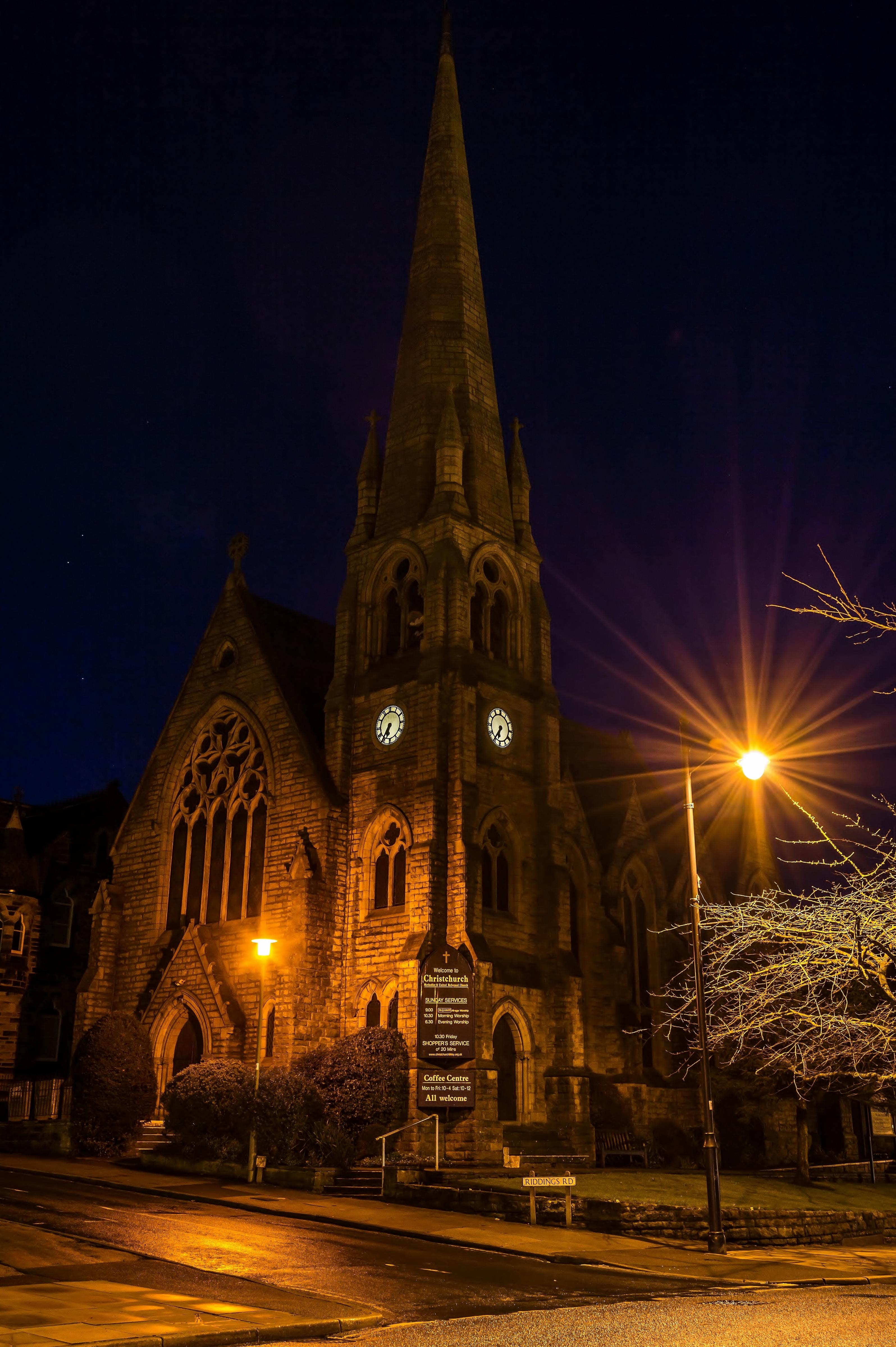 Christchurch, Ilkley by Night