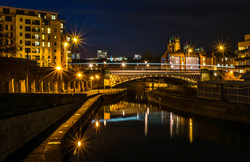 Crown Point Bridge at Night