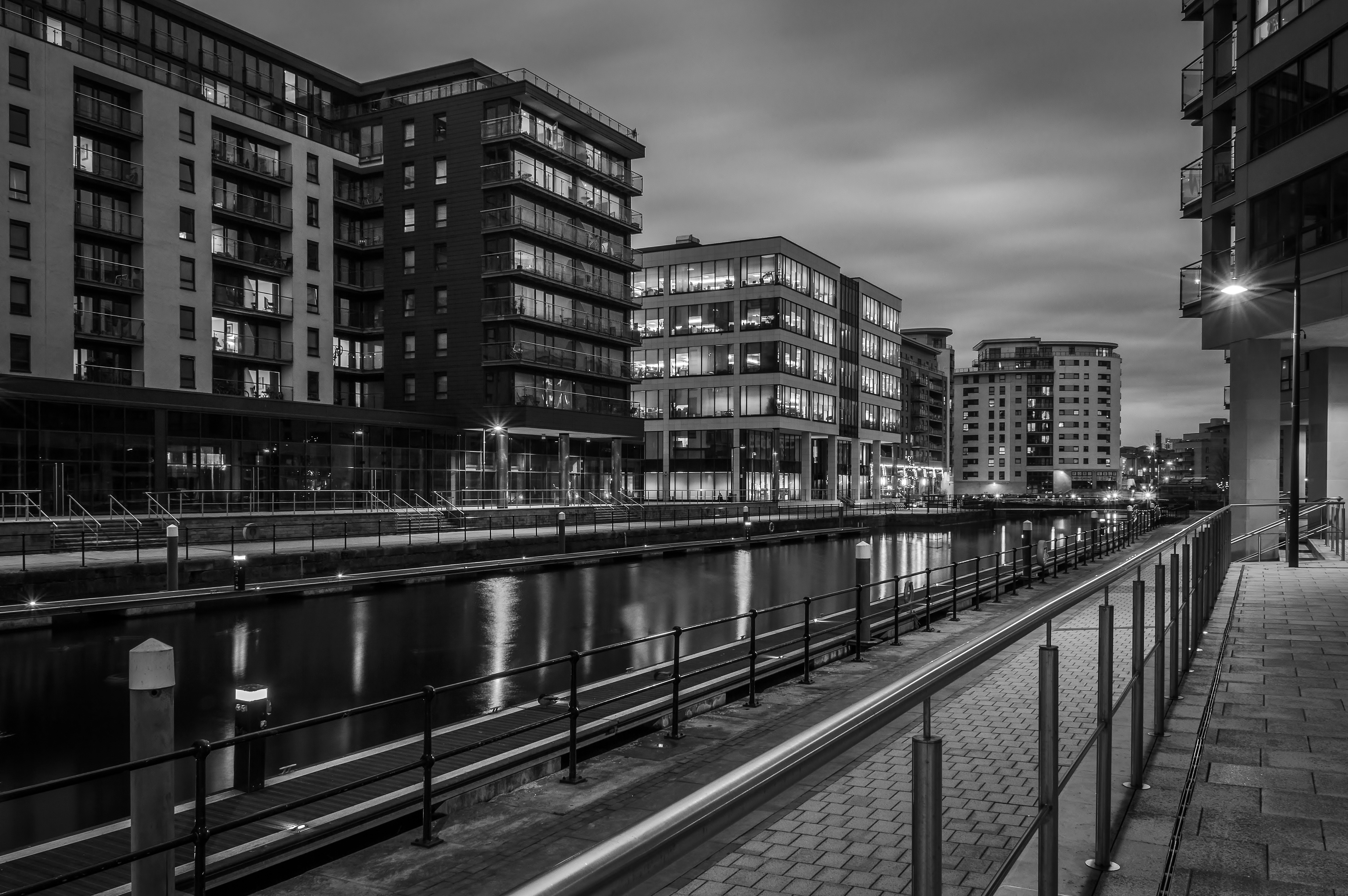 Clarence Dock by Night III