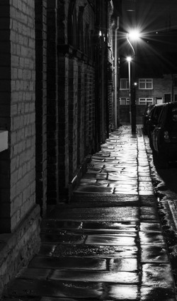 Saltaire Street at Night