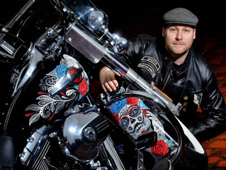 Assistant Director, Paul Brothwood wins Harley-Davidson competition with Mexican inspired artwork