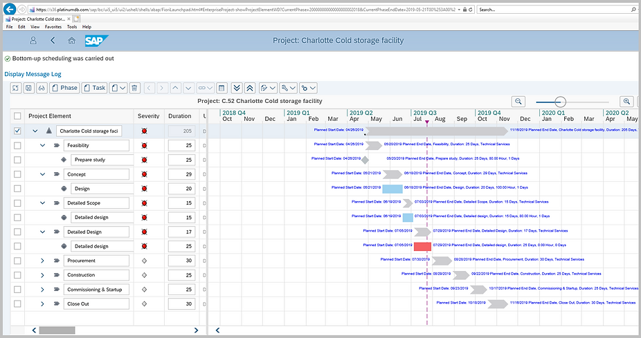 PDB Project Scheduling Engine