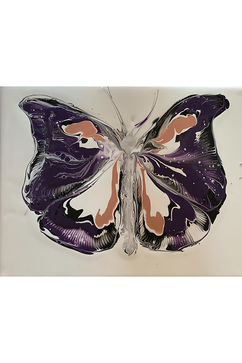 Butterfly Chain Pull-Coral/Purple/Black