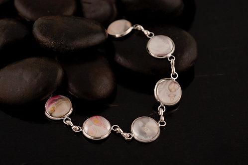 Acrylic Pour Chain Bracelet