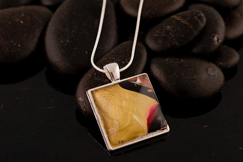 Acrylic pour Jewelry- Square shaped Necklace Pendant