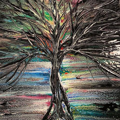 Black Tree of Life-Tree Swipe-Large