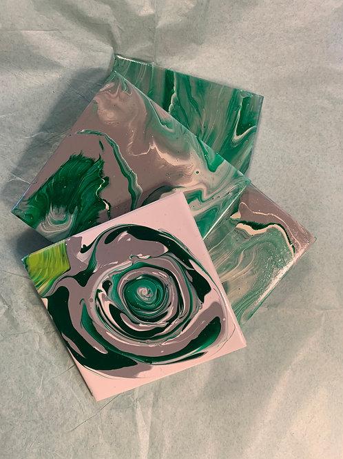 Mixed Custom Made Coasters- Set of 4