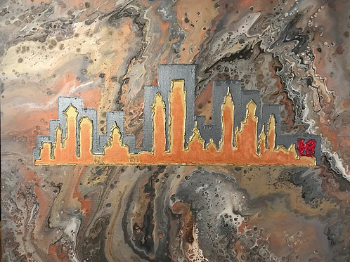 Philadelphia Skyline-Metallic