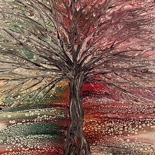 White Tree of Life-Tree Swipe-Large