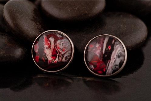 Large Acrylic Pour Stud Earrings