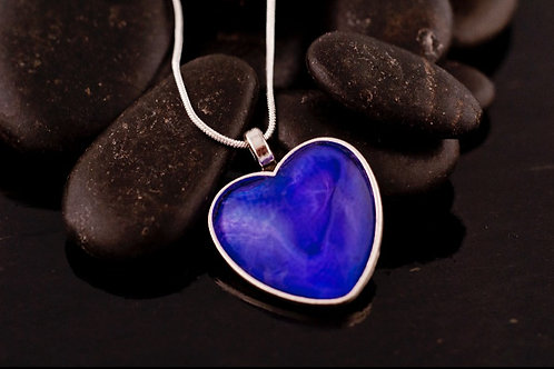 Acrylic pour Jewelry- Heart shaped Necklace Pendant