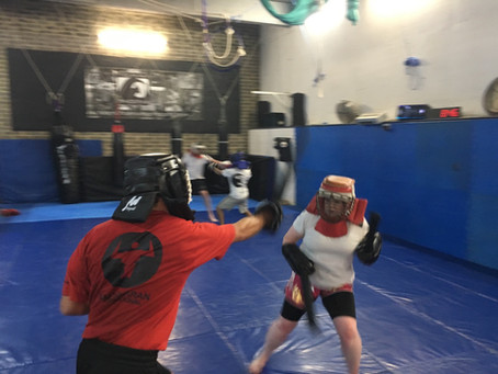 Double stick sparring goodness!