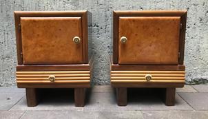 1920's Antique Walnut Nightstands