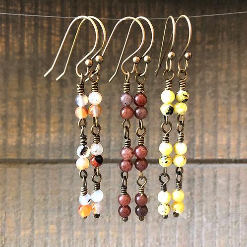 Beaded Chain Dangle Earrings