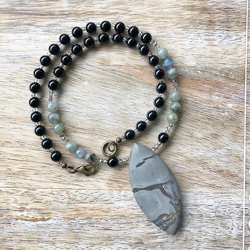 Scenic Jasper & Labradorite Necklace