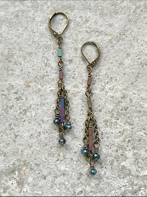 Minimalist Dangle Chain Earrings