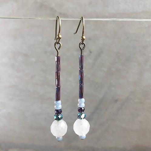 Quartz Simple Drop Earrings
