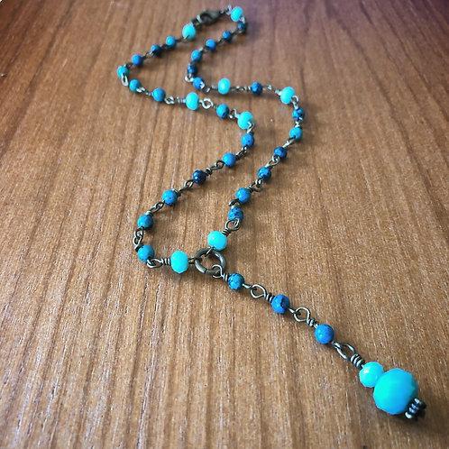 Ocean Y Necklace