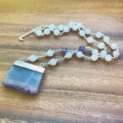 Amethyst Slab Necklace
