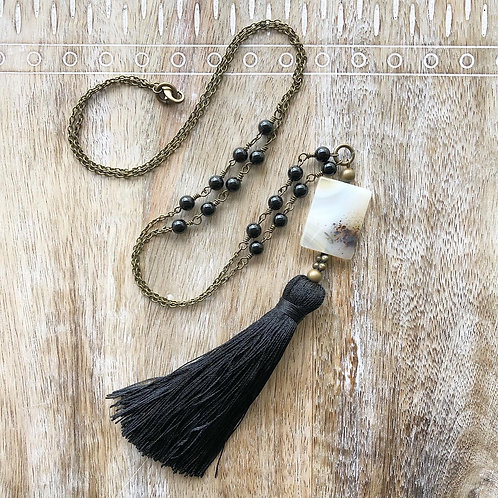 Moss Agate Boho Necklace