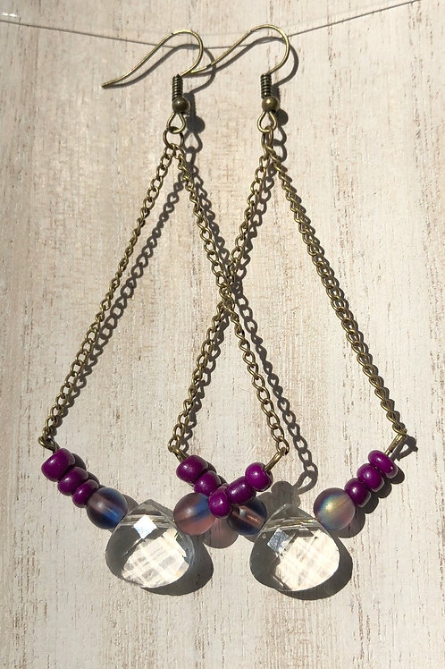 Trapeze Earrings - Purple
