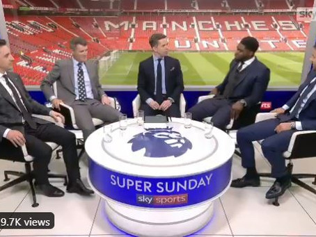 Micah richards featured as a pundit for the manchester derby