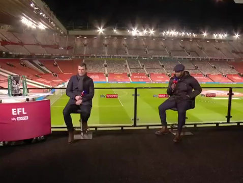 Micah Richards on Sky for the Carabao Cup Semi-Final