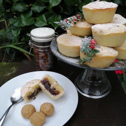 Frangipane Mince Pies & Brandy Butter