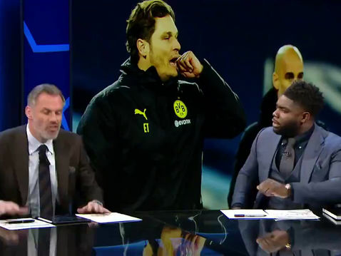 Micah Richards is back on CBS for their coverage of the Champions League 1/4 Finals