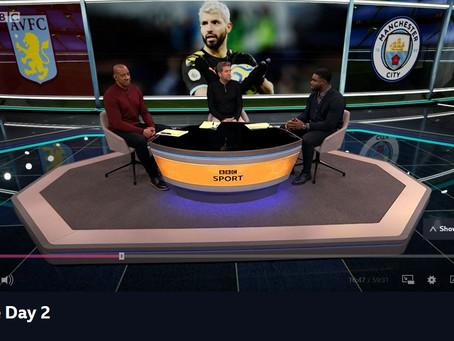 Micah Richards appears alongside Dion Dublin for Match of the Day 2