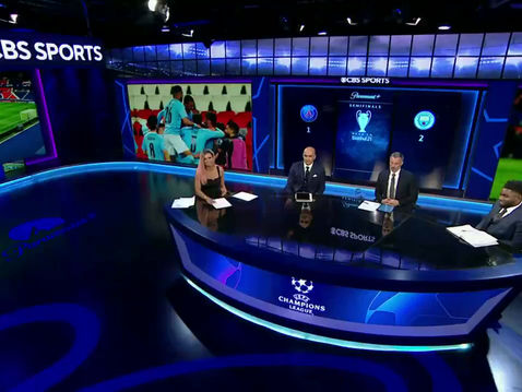 Micah Richards covers the Champions League for CBS Sports