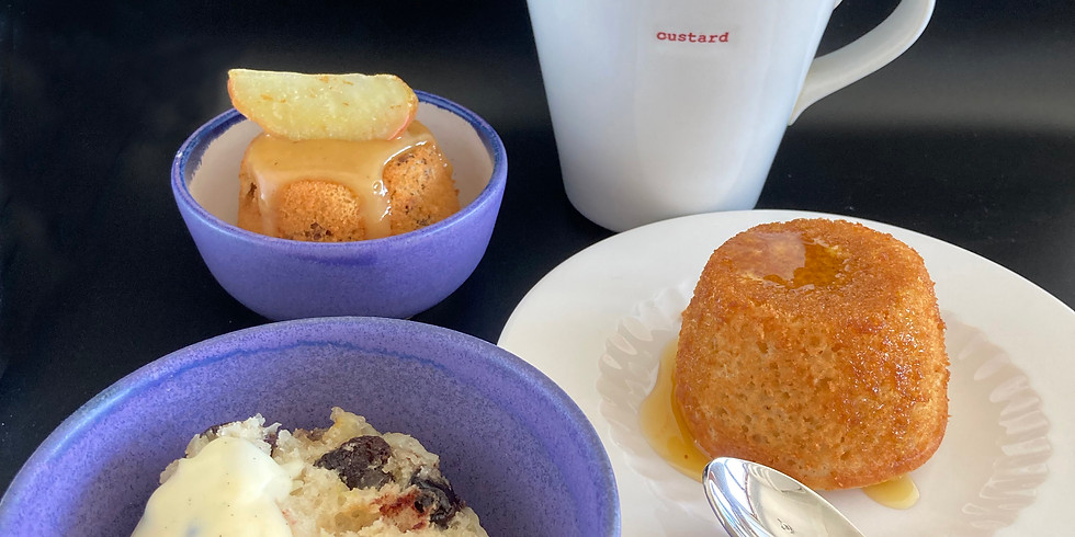 Howard's Spotted Dick, Custard and Sponge Puddings