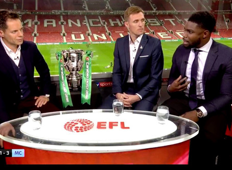 Micah Richards features on Sky for the Carabao Cup Semi Final First Leg