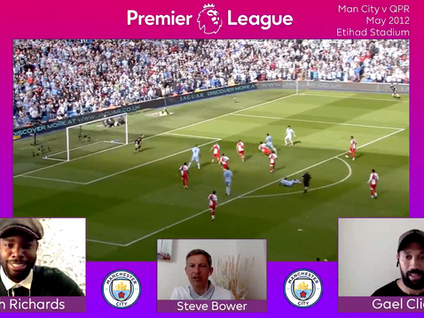 Micah Richards and Gael Clichy appear for Premier League Productions