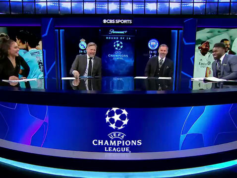 Micah Richards back on CBS for the Champions League