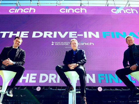 Teddy Sheringham joins Cinch for the Carabao Cup Final Drive In