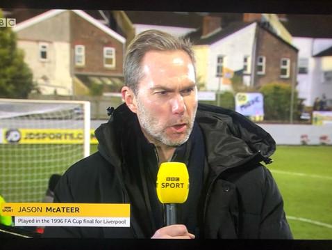 Jason McAteer for BBC's coverage of Marine vs Tottenham