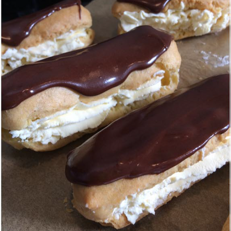 Black Forest Eclairs