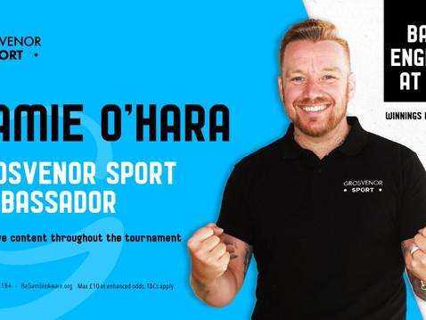 Jamie O'Hara joins Grosvenor Sport as their Official Ambassador for Euro 2020