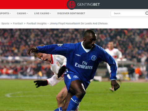 Jimmy Floyd Hasselbaink joins GentingBet