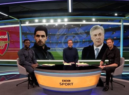 BBC MOTD2 featured Micah Richards alongside Peter Crouch Mark Chapman
