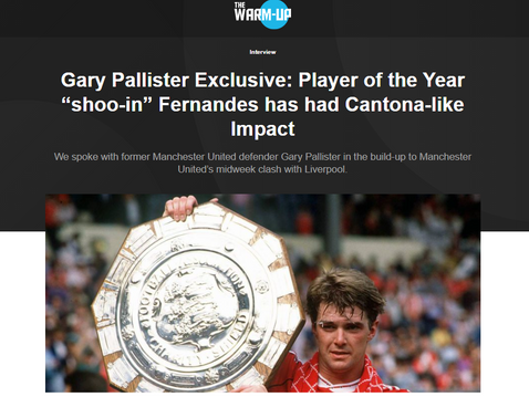 Gary Pallister joins Compare.Bet The Warm-Up once more for an exclusive interview