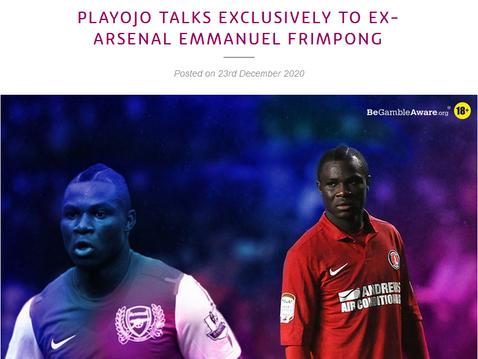 Emmanuel Frimpong talks to PlayOJO