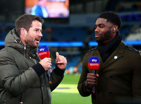 Micah Richards pundits for Sky for Manchester City vs West Ham