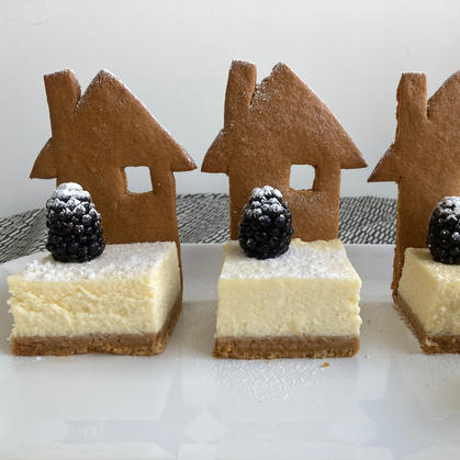 Gingerbread House and Cheesecake Garden